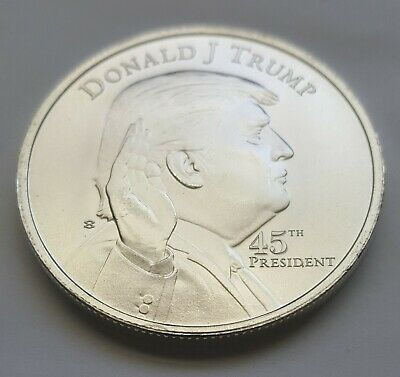 Donald Trump 1 OZ. President .999 Silver round Bullion White House 45