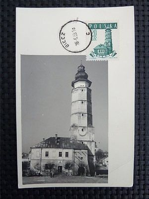 Briefmarken Polen Mk 1958 Rathaus Danzig Gedansk City Hall Maximumkarte Maxi Card Mc Cm Df06