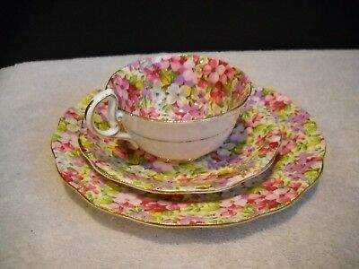 Vintage Royal Standard - Virginia Stock - Chintz 3 Piece Set