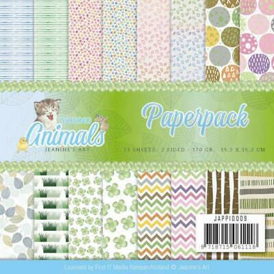 Paperpack - 15,2 x 15,2cm - Jeanines Art - Young Animals – 170gr -