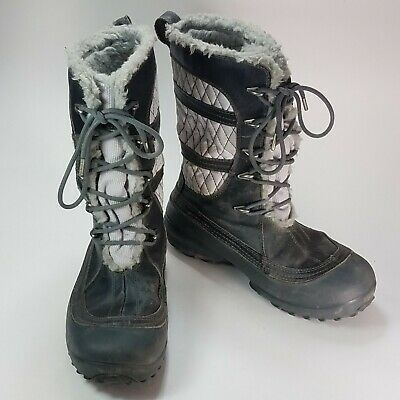 ff7dfdc232 COLUMBIA Womens HEAVENLY OMNI-HEAT Waterproof Lace Up Boots ~ Black ~ Size 7