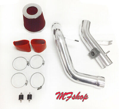 Red For 2PC 2006-2011 Mitsubishi Eclipse 3.8L V6 Cold Air Intake Kit + Filter