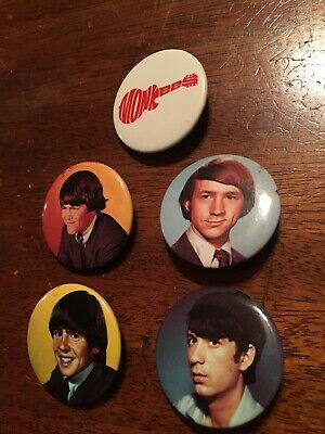 Iconic Monkees Members Pins Buttons