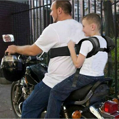 Black Baby Motorcycle Safety Seat Strap Belt Harness Chest Kids Safe Buckle
