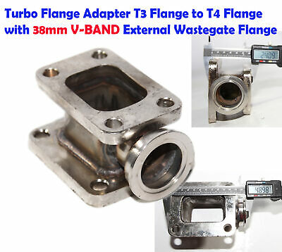 T3 to T4 Turbo Charger Flange Steel  Adapter Conversion w/38mm 2 bolts Flange