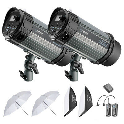 Neewer 600W (2*300W Monolight) Kit de Studio Stroboscope avec Softbox Parapluie
