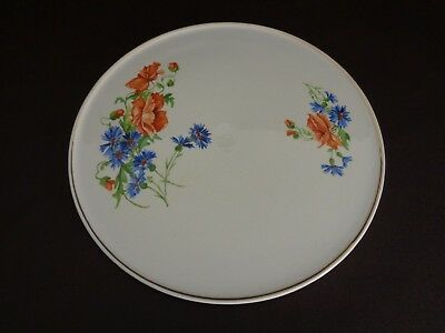 "Erphila Germany Vintage 11-1/2"" Ceramic Cake Plate (Cat.#13C008)"