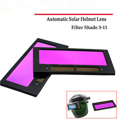 "4-1/4"" x 2"" solar Auto Darkening Welding Helmet/Mask Lens Filter Shade 3-11 JC"