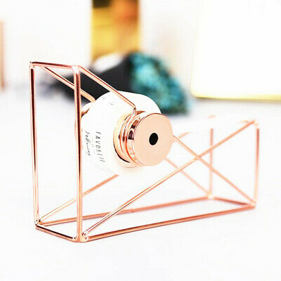 Rose Gold Stationery Metal Tape Holder Tape Cutter Office Tape Dispenser