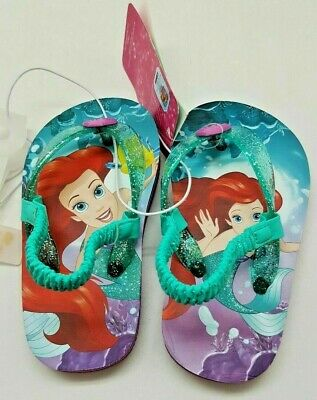 b84efcad6023 Toddler Girls  Disney Ariel Flip Flop Sandals - Turquoise   Purple (Size ...