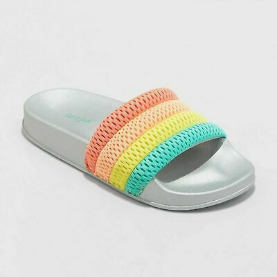 f4e48df45062 Girls  Maria Slide Flip Flop Sandals - Cat   Jack - Rainbow (Size M