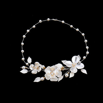 Wedding Bridal Formal hair Accessories Garland Piece Clip Tiara Headband