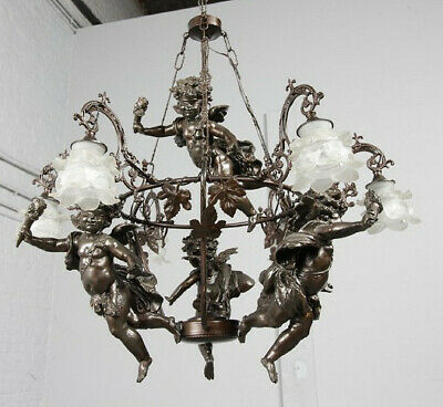 Antiques Vintage Rococo Dining Bed Room Chandelier Ceiling Pendant Light  Italy