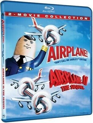 Airplane 1 (1980) / Airplane 2: The Sequel (Flying High 1 / 2) BLU-RAY NEW