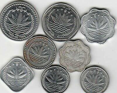 8 different world coins from BANGLADESH