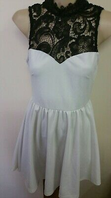 Womens Stunni G White Blace Lace Dress Sz S designed In Aust Soinstylo
