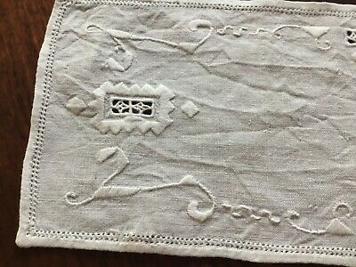 doily rectangular linen embroidery