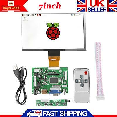 "7"" inch LCD TFT Display 1024*600 HDMI VGA Monitor Screen Kit For Raspberry Pi 3."