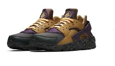 uk availability 268fb 289f5 Nike Air Huarache Premium Anthracite Gold Purple Acg 704830 012 Size 9.5  Men s