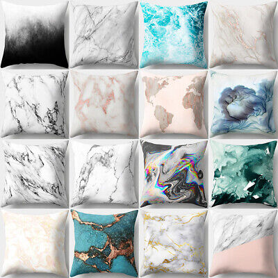 Marble Pattern Soft Comfortable Cushion Cover Bed Pillowcase Home Car Decor New