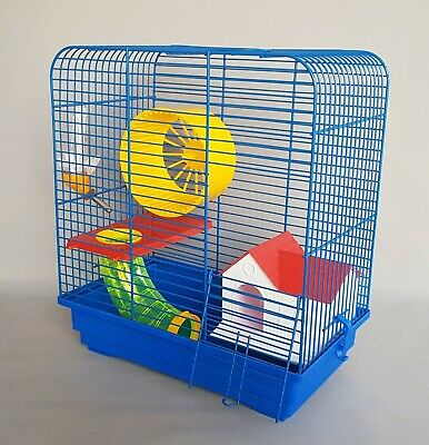 Dwarf Hamster Cage Mouse Rodents Cages Pet House Wheel Water Bottle Gerbil Mice