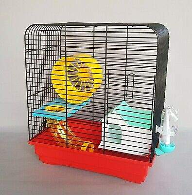 Mouse Cage Pet Animal Transporter Hamster Water Bottle House Pet Tube Platform