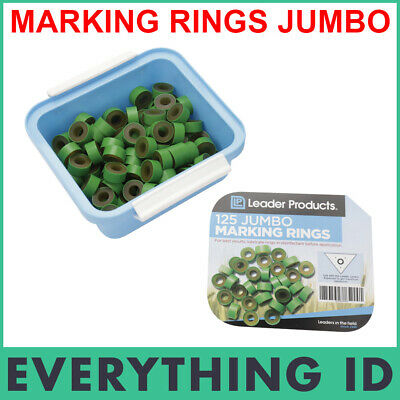 Leader Jumbo Marking Rings 125 Pk Calves Bulls Cattle Large Calf Castration