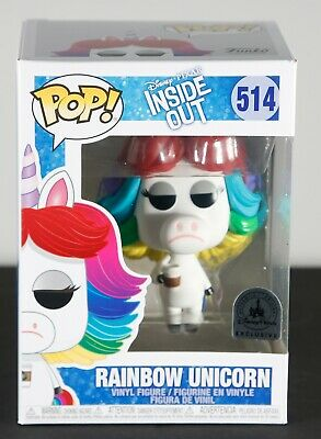 Funko Pop Rainbow Unicorn #514 Inside Out Disney Parks Exclusive NEW