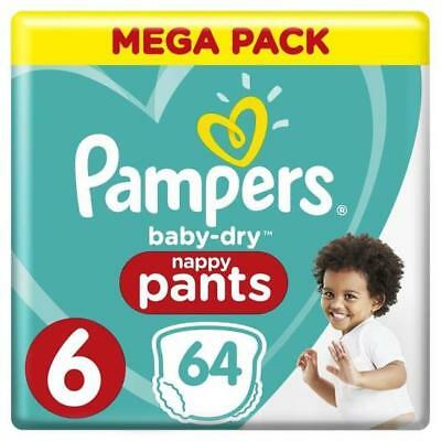 128 PAMPERS COUCHES CULOTTES NAPPY PANTS  taille 6   neufs ( 15 kg +)