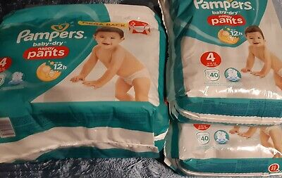 132 couches culottes pampers baby dry nappy pants  taille 3  NEUF  bb 6 à 11 kg
