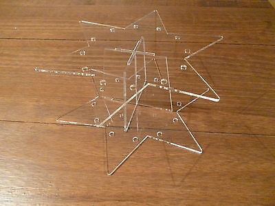 Cake pop acrylic star stand display