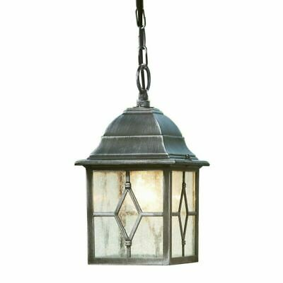 Traditional Style  Silver Outdoor Security IP Rated Hanging Porch Chain Lantern
