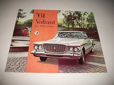 1961 VALIANT by CHRYSLER  CANADIAN ONLY SALES BROCHURE CLEAN