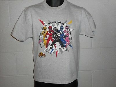Vintage 90s 1994 Mighty Morphin Power Rangers T-Shirt Youth Large