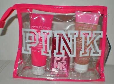 Victoria's Secret PINK Wild and Breezy Mist Lotion Wash Scrub Gift Set