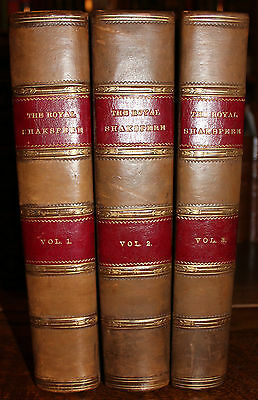 1883 The ROYAL Shakespeare Shakspere Chronological Order 3 Volumes Illustrated