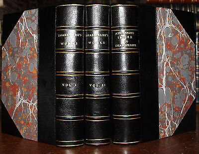 1790 Shakspeare's Dramatic Works Rev Ayscough 3 Volumes Index Shakespeare
