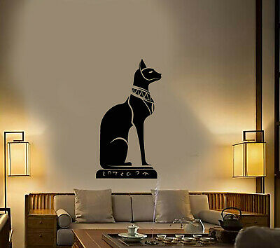 Vinyl Wall Decal Ancient Egypt Egyptian Cat Bastet Stickers (3503ig)