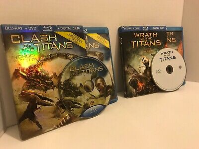 Titans Blu Ray Combo: Clash & Wrath Of The Titans (Canadian, Sleeves,  WrathDVD)