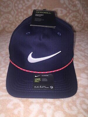 4b95b8720d RARE~NIKE GOLF CLASSIC 99 Rope Hat~Navy Blue~Aerobill~Adjustable~Nwt ...