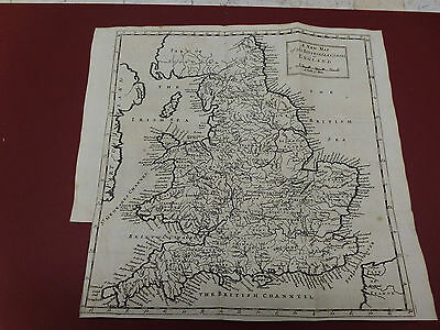 100% ORIGINAL RIVERS OF ENGLAND MAP MORDEN/MOLL BY C1720 VGC free uk post