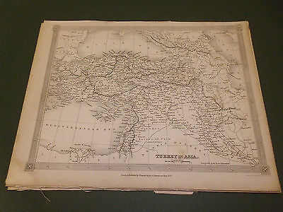 100% Original Turkey In Asia  Map By Findlay C1840 Vgc Low Postage