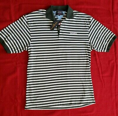 db90d791 NWT☆New☆TOMMY HILFIGER DARTMOUTH COLLEGE ☆Golf Polo Shirt Striped Green☆ Medium