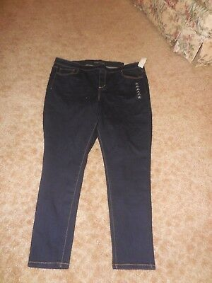 fb40b8d9528ef New Plus Size Jegging Size 24 Regular Maurices Leah Jeans Denim Mid Rise  Dark