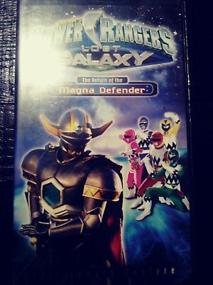 POWER RANGERS LOST Galaxy (VHS, 1999) The Power of ...Power Rangers Lost Galaxy Magna Defender Vhs