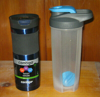 Contigo SnapSeal Byron Travel Mug and Shake & Go Fit Shaker Bottle