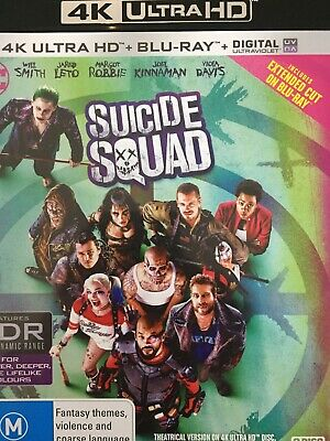 Suicide Squad - 4K Bluray + Bluray 2016 As New!