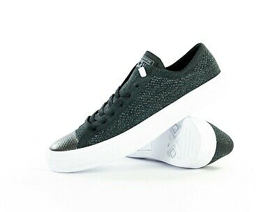 a6c38964206 Converse Chuck Taylor All Star x Nike Flyknit Ox Low Top Black Mulit 157591c