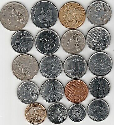 20 different world coins from BRAZIL