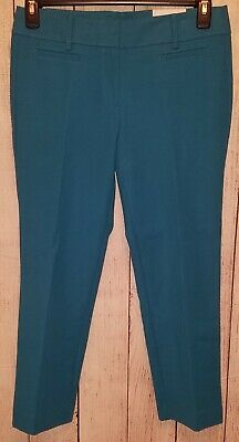 Loft Womens Pants Size 6 Blue Teal Black Polka Dots Marisa Cropped Clothing, Shoes & Accessories Women's Clothing